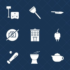 Premium set with fill icons. Such as home, furniture, table, interior, breakfast, music, drink, equipment, sport, room, kitchen, chef, bed, charger, building, photo, tea, energy, league, percussion