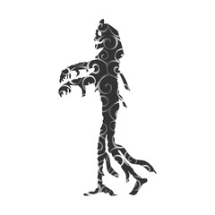 Mummy halloween pattern silhouette scary monster fantasy