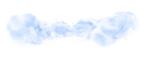Abstract watercolor background hand-drawn on paper. Volumetric smoke elements. Blue, Navy Peony color. For design, web, card, text, decoration, surfaces.
