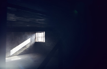 Sunlight shining through basement window