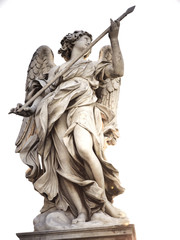 Angel statue holding spear