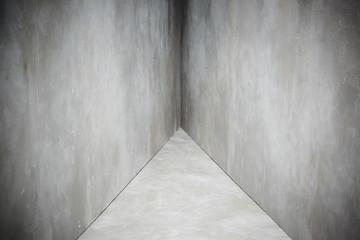 Gray concrete walls and floor