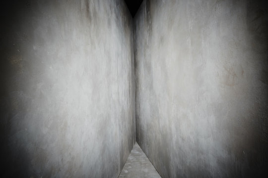 Gray concrete walls