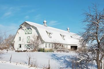 Big Barn in Winter