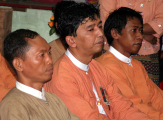 File photo of leaders of 1988 uprising attending ceremony to mark birthday of Aung San Suu Kyi at NLD headquarters in Yangon