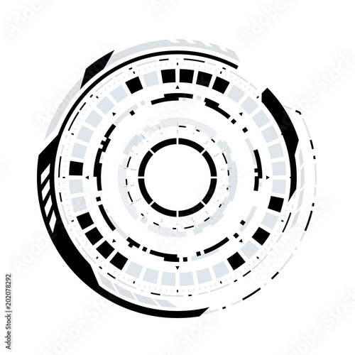 Futuristic Sci Fi Virtual Reality Technology Hud Circle Element