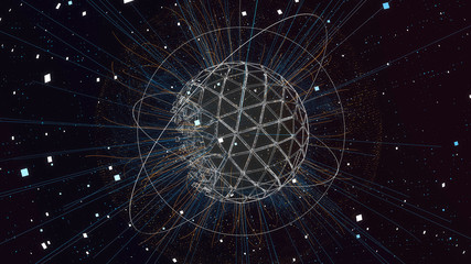 Sphere with Particles