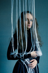 woman with threads