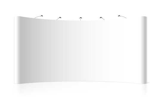 Blank wide trade exhibition stand