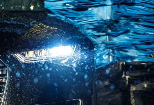 Modern Vehicle in the Car Wash