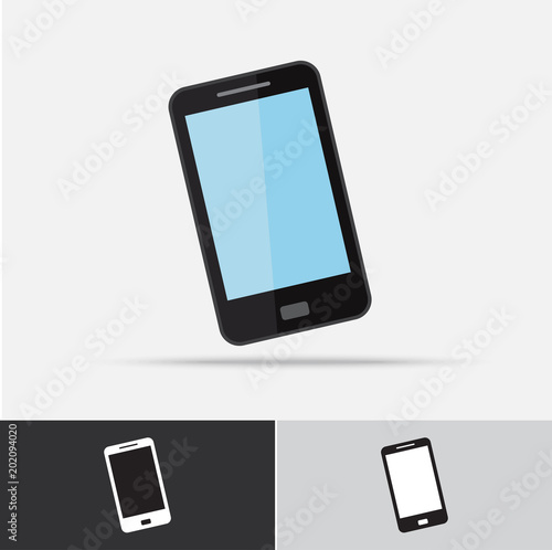 Cell Phone Vector Icon Flat Design Stock Image And Royalty