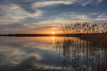 Sonnenuntergang am Rangsdorfer See