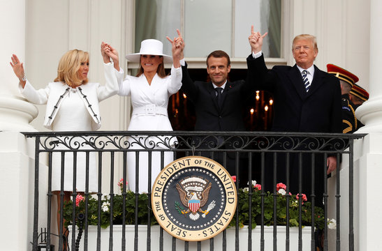 Trump holds a state visit for French President Macron at the White House in Washington