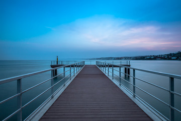Long Exposure of a Pier at Sunset.