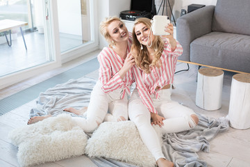 Female best friends spending time together.