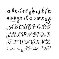 Hand written font. Doodle letters