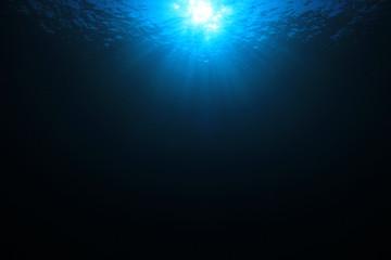 Underwater blue ocean background