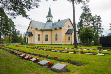 New Church and cemetery, Petäjävesi is municipality in Central Finland