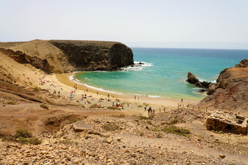 Amazing Papagayo beach in Lanzarote, Canary Islands