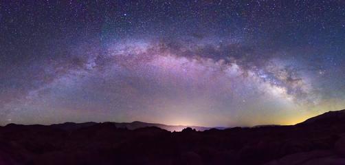 Milky Way above the Eastern Sierra Mountains, California, USA.