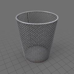 Mesh waste basket