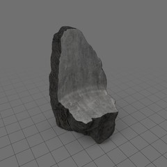 Rough stone chair