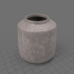 Rough wide vase