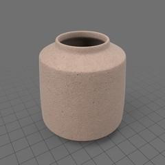 Textured wide vase