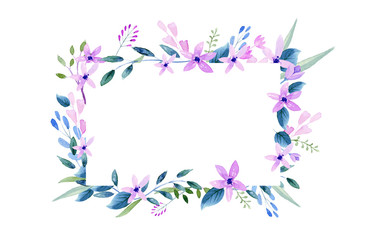wreath of flowers in watercolor