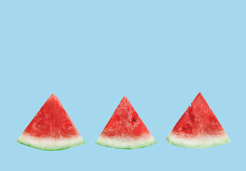 Watermelon pattern on the white background, abstract, flat lay, top view