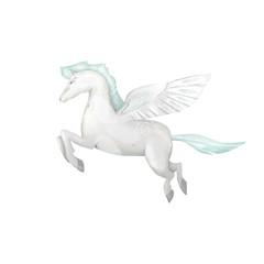 Pegasus digital clip art fly pegasus drawing poni fly horse illustration magic unicorn on white background