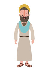 apostle of Jesus with halo character vector illustration design