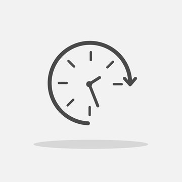 Rotating clock icon for time