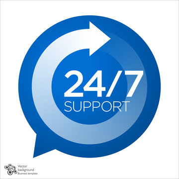 Support Service icon, 24/7, 365 #Vector Graphics