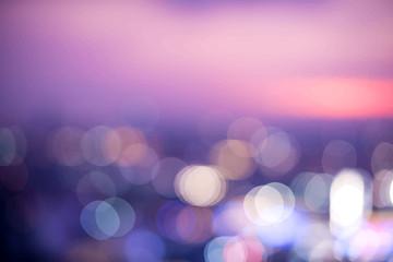 Blurred bokeh lights night time wallpaper