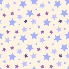 Funny pastel stars vector seamless pattern.