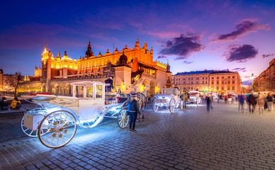 Fototapeta Old town market square of Krakow, Poland. obraz