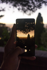 Sunrise through phone