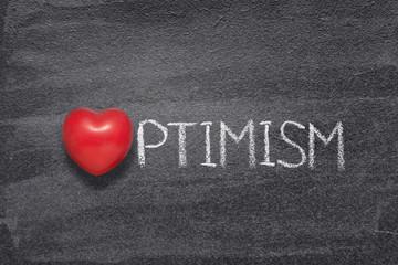 optimism word heart