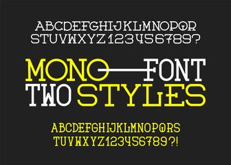 Hand Drawn alphabet. Modern vector font. Creative typeface.
