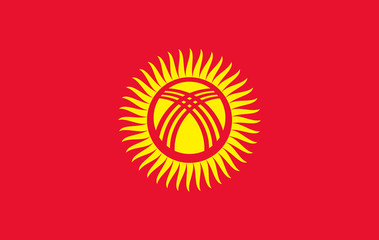 Kyrgyzstan Flag for Independence Day and infographic Vector illustration.