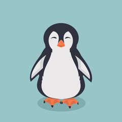 smiling penguin cartoon vector