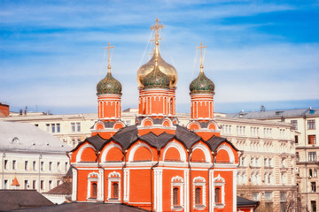Fototapete - Moscow Znamensky Monastery, that on the old sovereign court on Varvarka Street,