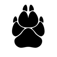 paw prints on isolated white background dog or cat paw prints. flat icon logo