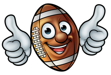 American Football Ball Mascot