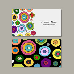 Business card design, abstract circles