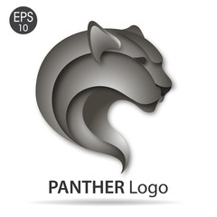 Panther logo vector illustration