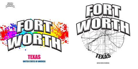 Fort Worth, Texas, two logo artworks