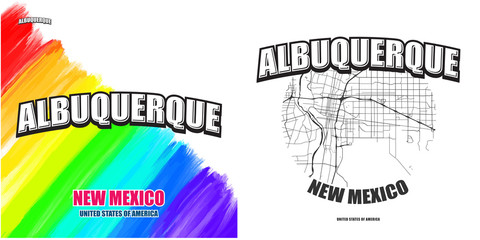 Albuquerque, New Mexico, two logo artworks