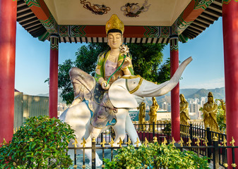 Pavilion at the Ten Thousand Buddhas Monastery in Hong Kong